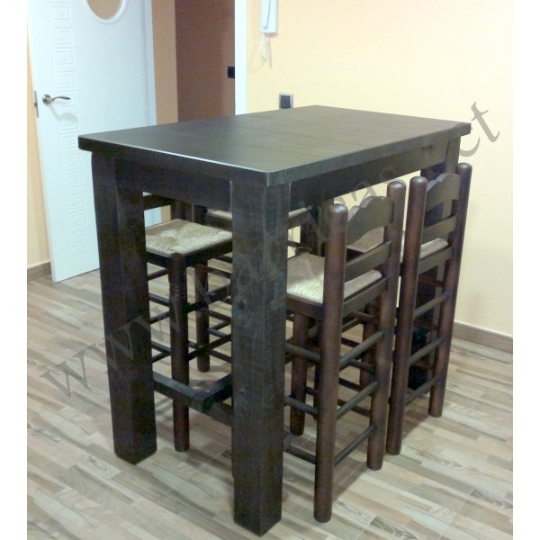 Mesa alta para decoración rustica